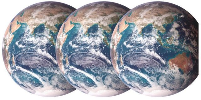 Three Earths: reducing our contribution to global warming