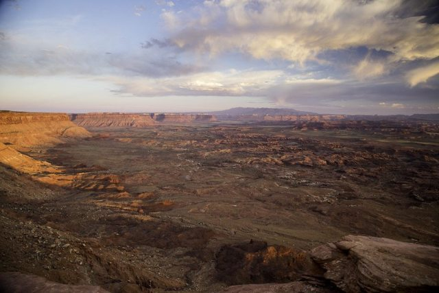 Sunset at Indian Valley, Bears Ears National Monument. Now image this scene with the valley filled with oil rigs