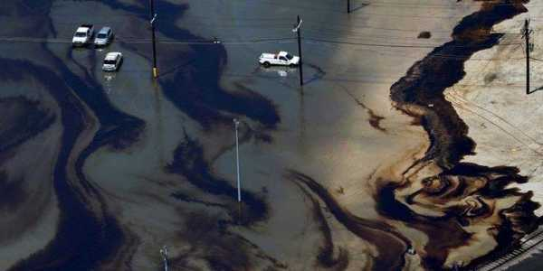 Oil in the water: pollutants spill into ecosystems after a hurricane