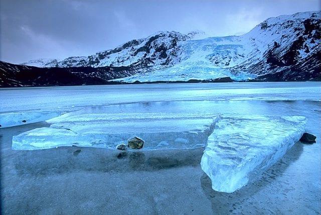 Iceland glacier collapse