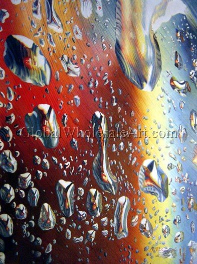 Water Drops Oil Paintings On Canvas