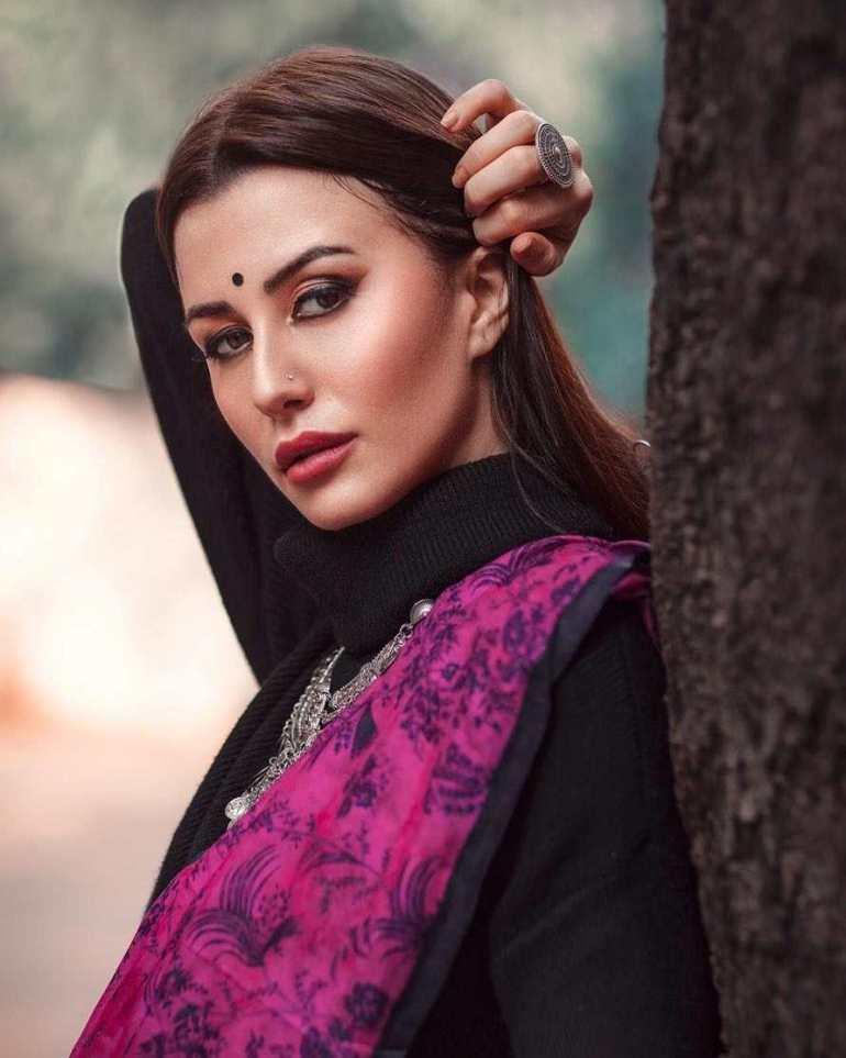 Giorgia in Indian Saree