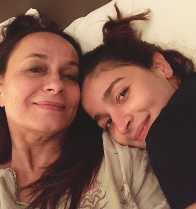 Alia with Her Mother