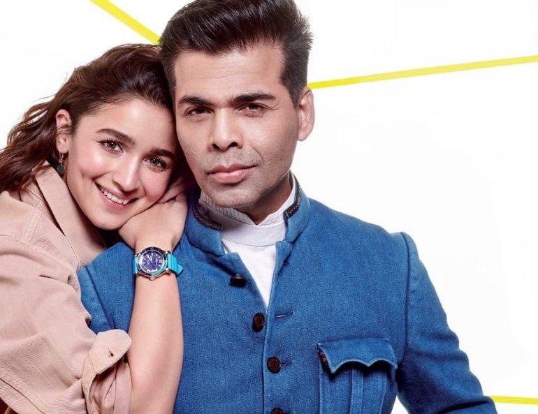 Alia with Karan Johar