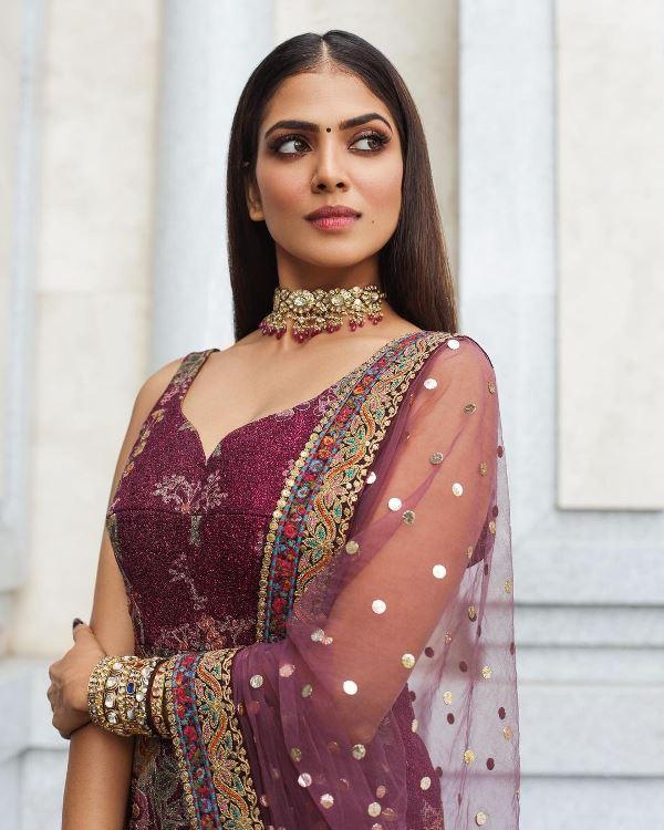 Malavika Mohanan in Indian Dress