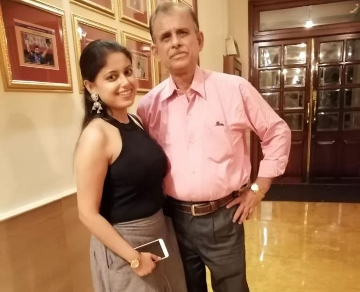 Sneha With Her Father