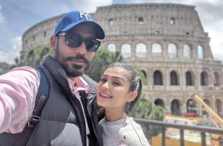 Simran Kaur Hundal with Her Husband