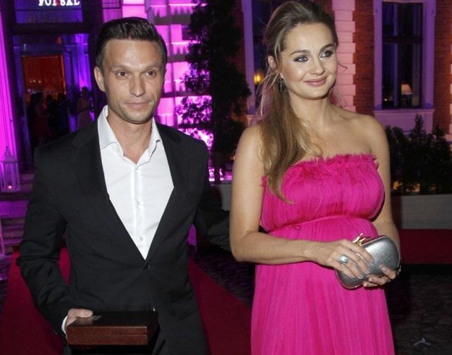 Malgorzata Socha with Her Husband Krzysztof Wisniewski