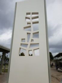 Scultpture entitled Tree of Life incorporated into the Arizona Memorial at Pearl Harbor Hawaii