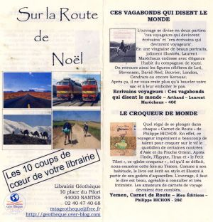 Catalogue de Noël Librairie La Géothèque Nantes (44) 2012
