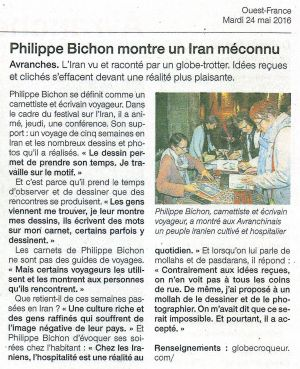 Ouest France Avranches (50) Mai 2016