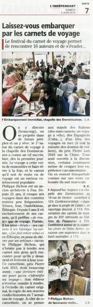 L'Indépendant Carcassonne (11) Avril 2016