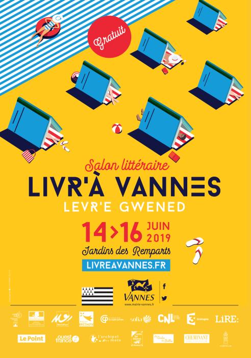 Affiche salon livre de Vannes