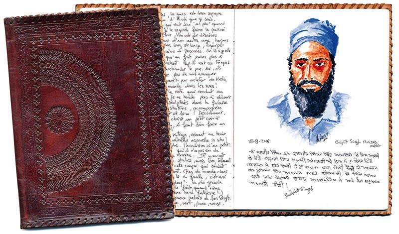 Carnet original Inde Benares