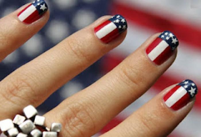 Diseño De Uñas Con Banderas