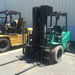 Quad Stage Dual Wheel LPG forklift with non mark tires