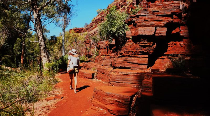 Parc National de Karijini sur la côte ouest de l'Australie