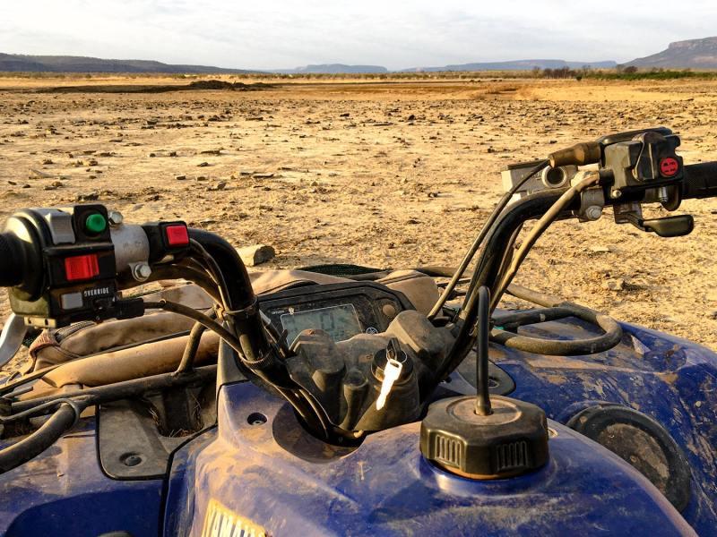 Piloter un quand en Australie dans l'Outback