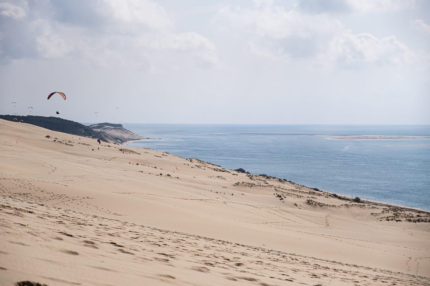 Sommet de la dune du Pilat au bassin d'Arcachon