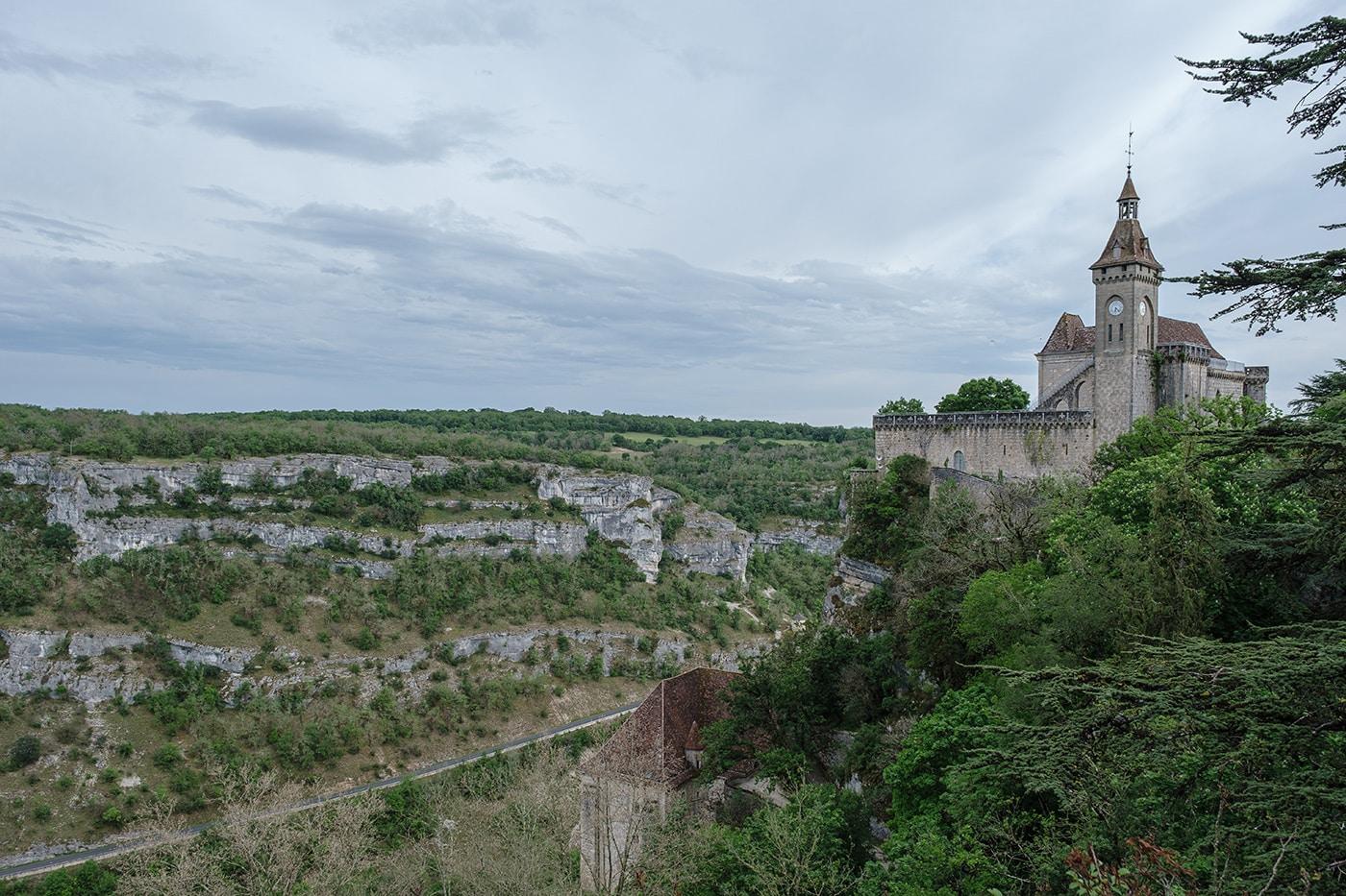 Chateau de Rocamadour panorama