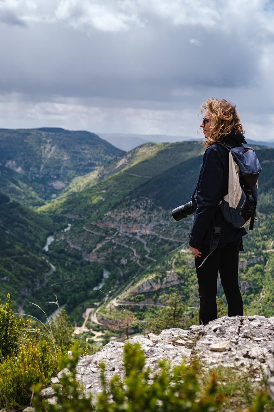 Point de vue sur les gorges du Tarn Lozère