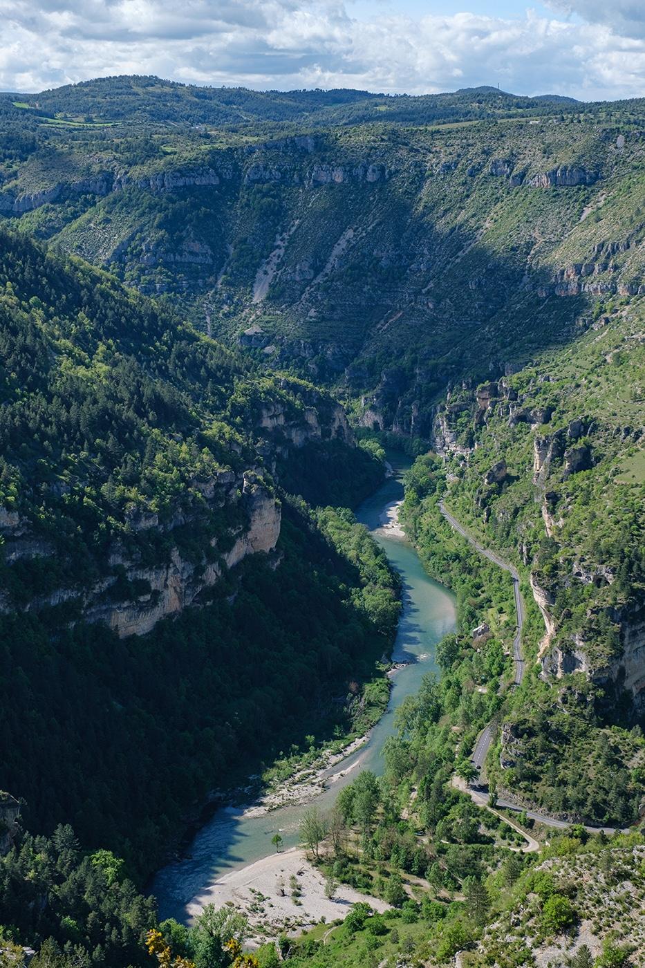 Les gorges du Tarn à Saint-Chély