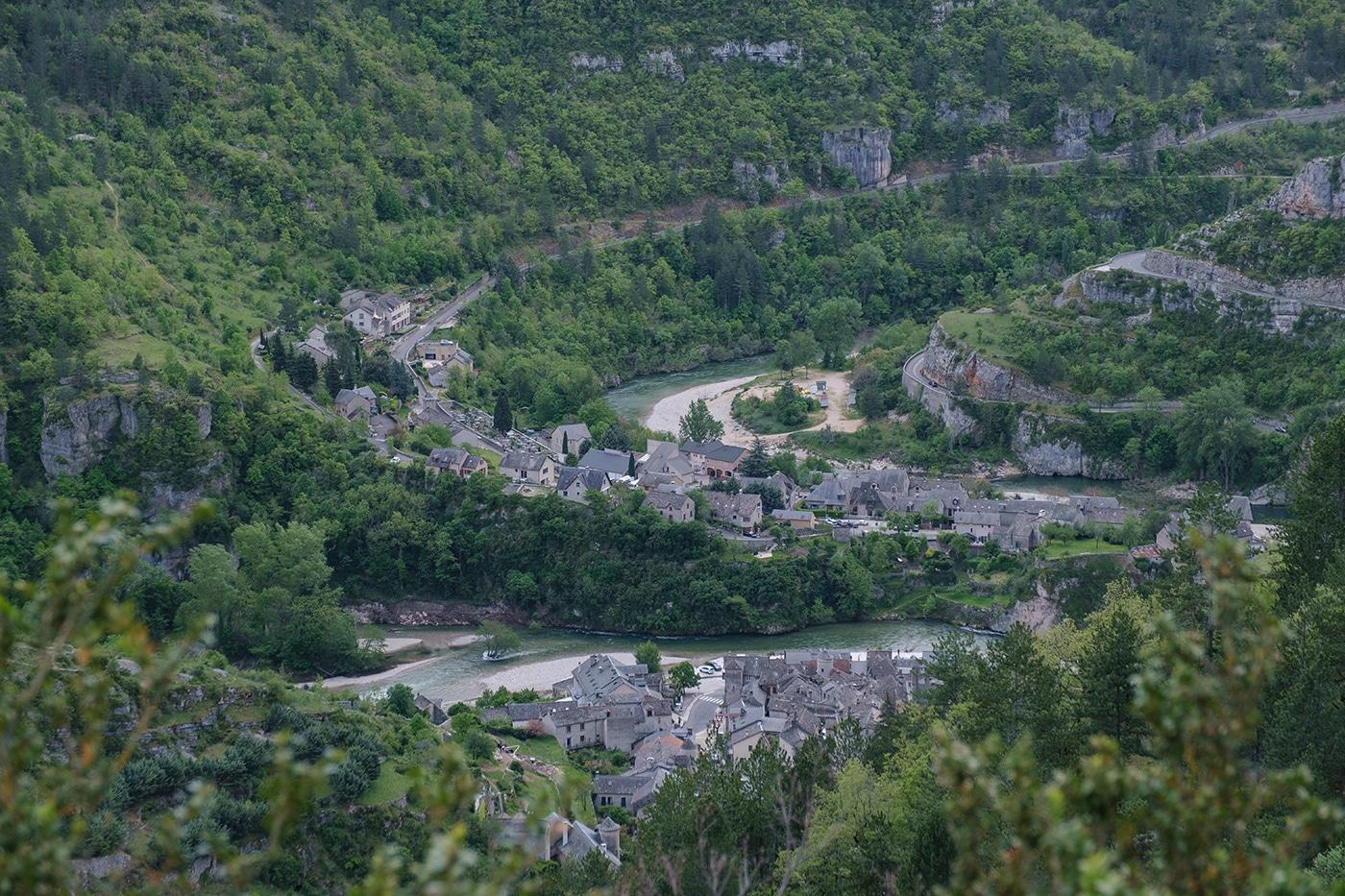 Sainte Enimie dans les Gorges du Tarn en Lozère