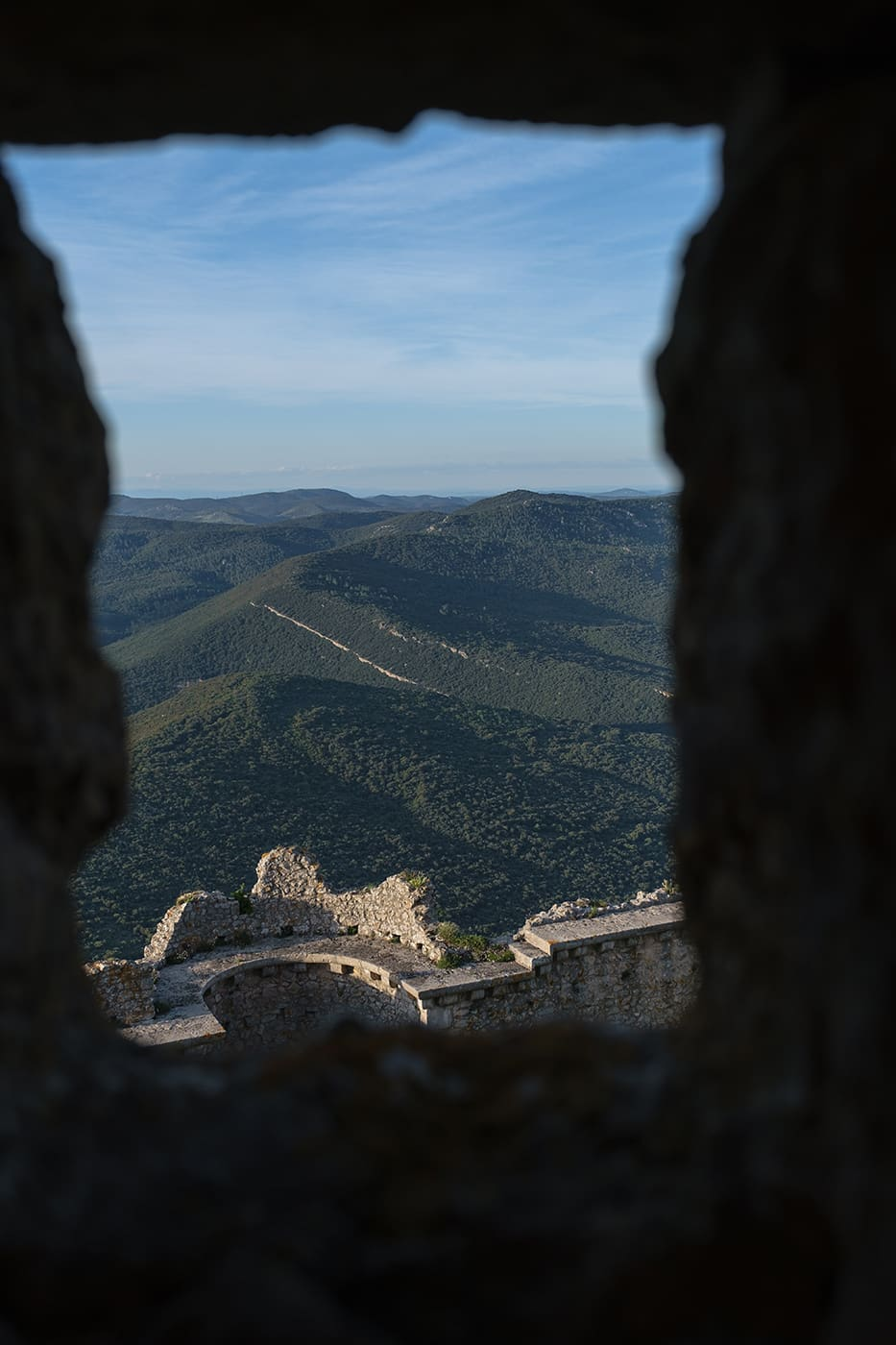 Vue depuis peyrepertuse château cathare