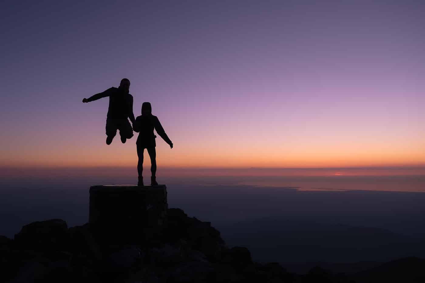 Bonheur au sommet du pic du Canigou