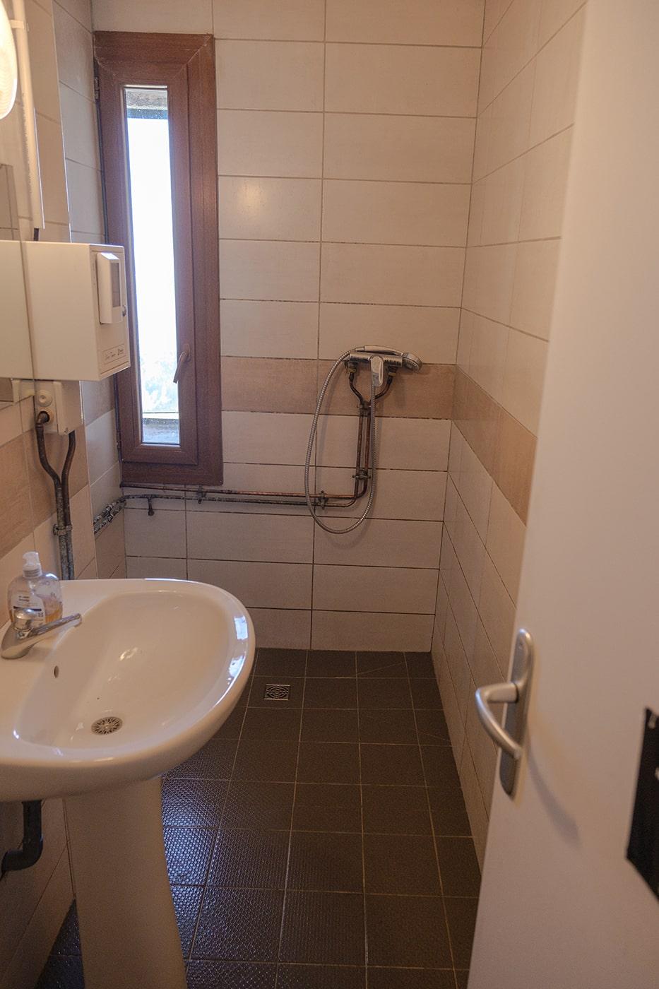 Salle de bain du refuge des Cortalets