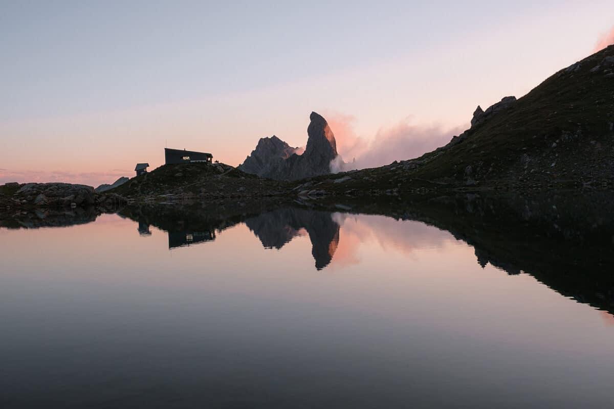 Randonnée dans le Beaufortain refuge de Presset Pierra Menta et lac d'Amour