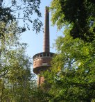 Tower overlooks weird paradise..