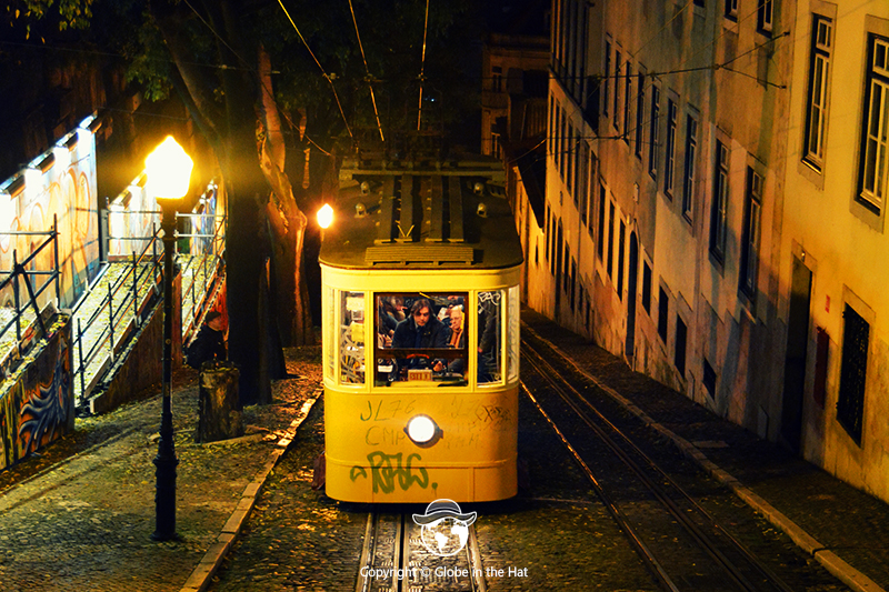 A traditional tram in Lisbon, Portugal