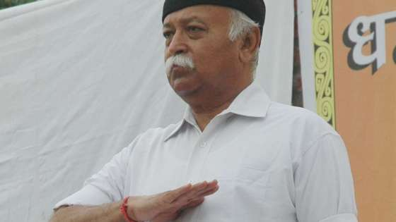 Mohan Bhagwat is the leader of the Hindutva extremist Rashtriya Swayamsevak Sangh (RSS) organization. (Image Credit: Vishal Dutta/Flickr)