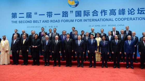 Ruling officials participating at the second Belt and Road Forum for International Cooperation held in Beijing from April 25-27, 2019. (Image Credit: RIA Novosti)