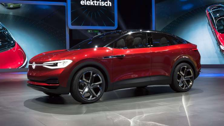The Volkswagen I.D. Crozz electric concept vehicle on display at the International Motor Show in Germany on September 12, 2017. (Image Credit: Matti Blume/Wikimedia Commons)