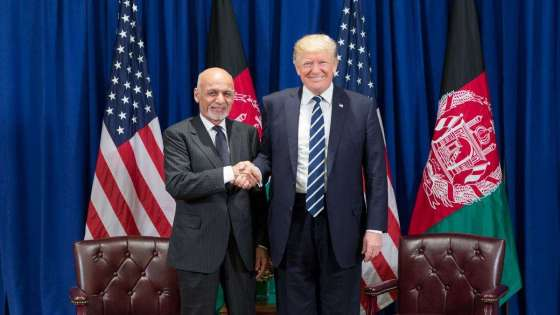 U.S. President Donald Trump and Afghan President Ashraf Ghani meet at the United Nations General Assembly on October 2, 2017. (Image Credit: White House)