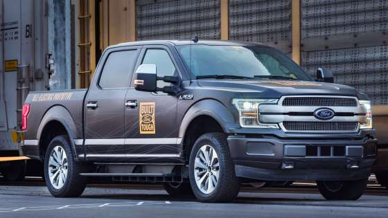 Ford Motor Company's prototype of an all-electric F-150. (Image Credit: Ford)