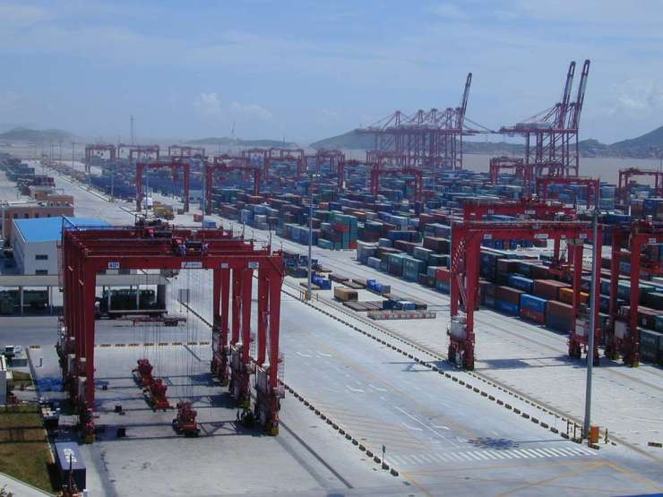 The Yangshan Deepwater Harbor Zone at the Port of Shanghai on February 25, 2008. (Image Credit: Alex Needham)
