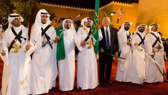 Trump sword dance saudi
