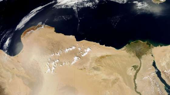 egypt libya satellite view