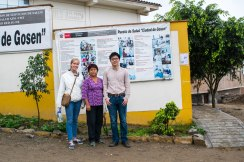 A picture of us and Mili in front of the public hospital we visited and brought medicine to.