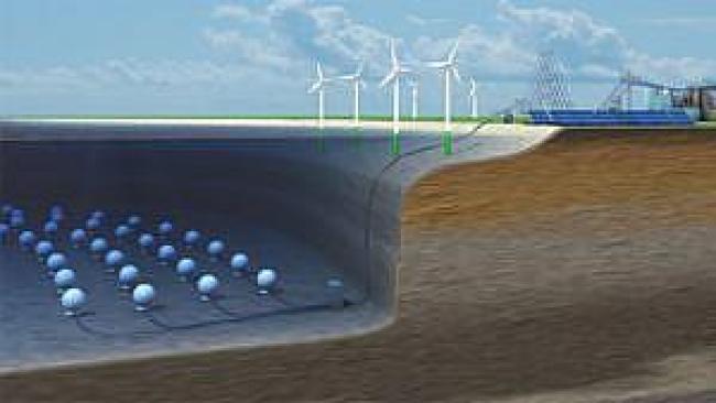 Projekt koncepcji magazynowania energii w betonowych kulach zatopionych w morzu, źródło: Hochtief Solutions