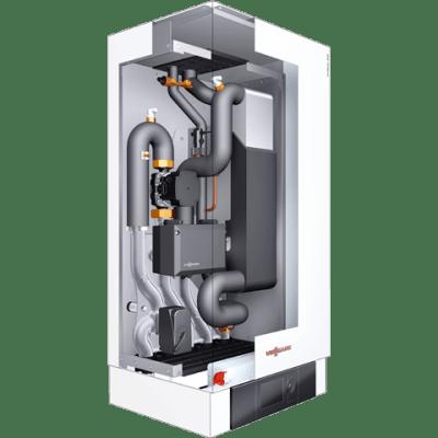 Przekrój produktu - pompa ciepła powietrze-woda typu split Vitocal 250-S