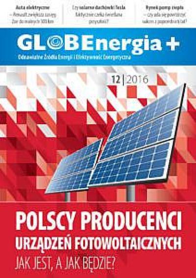 Okładka GLOBEnergia+ 12/2016
