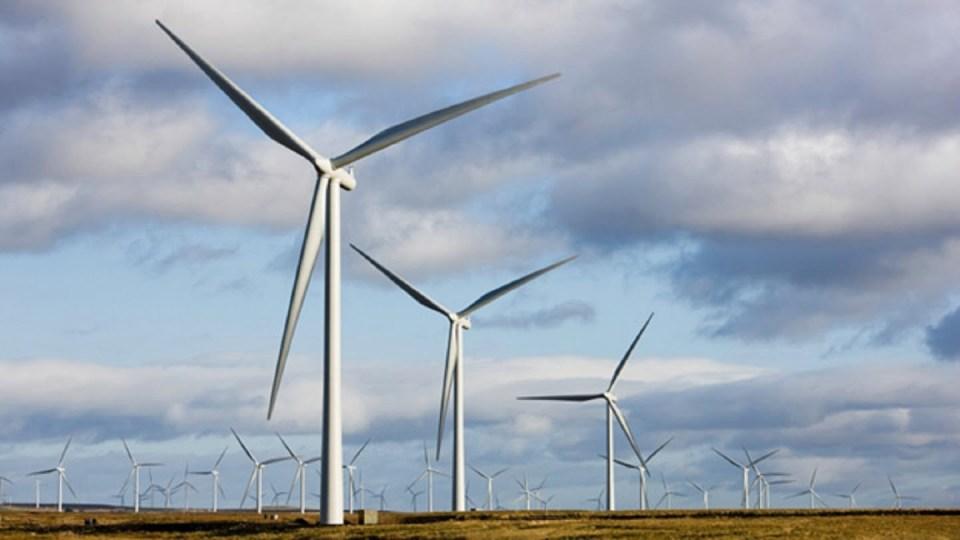 farma wiatrowa w Szkocji