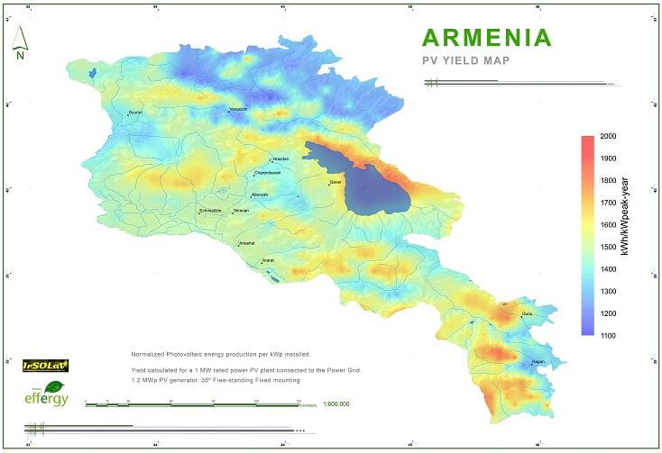 Potencjał fotowoltaiki w Armenii