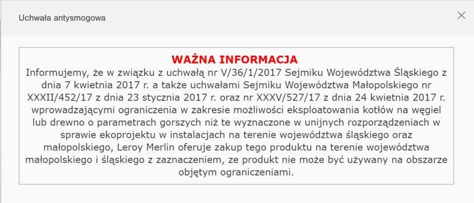 printscreen z www.leroymerlin.pl