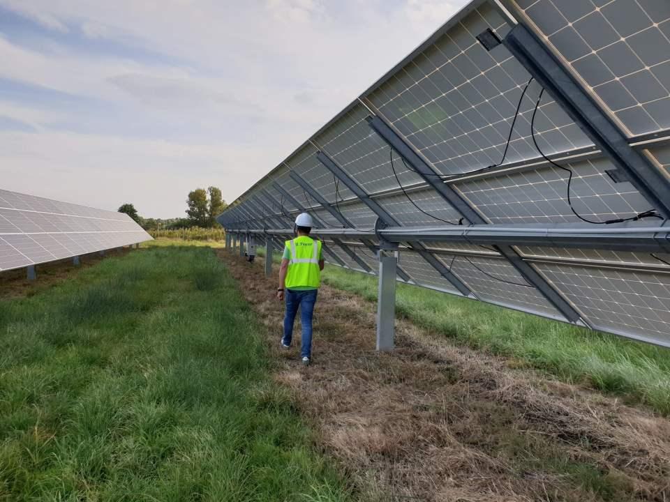 farma PV na trackerach, polska
