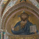Mosaïque dans l'église de Cefalu